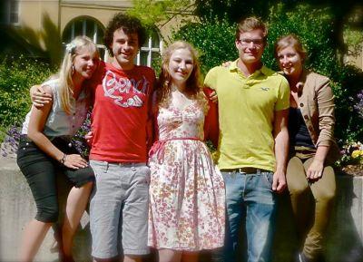 AGT-Gründungsteam: von links nach rechts Jacqueline Harfst, Fabian Kraus, Marlene Heckl, Alexander Ditsch und Johanna Kreutzer