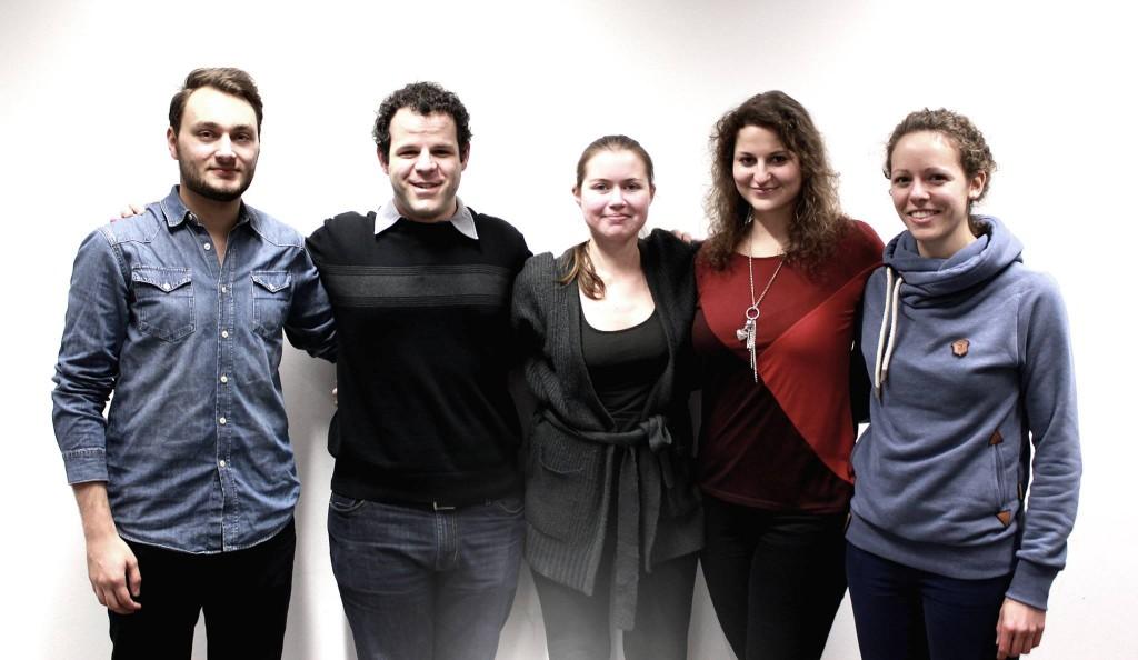 Gruppenbild vom Januar 2014 (Jonas Alfitian, Konstantin Pappas, Eva Roxane Stormanns, Jessica schramowski und Alina Thiel (v.l.)