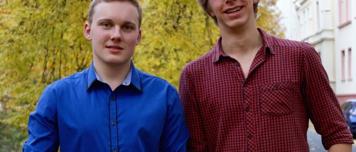 Medizinstudenten Felix Hofmann und Dominik Penka