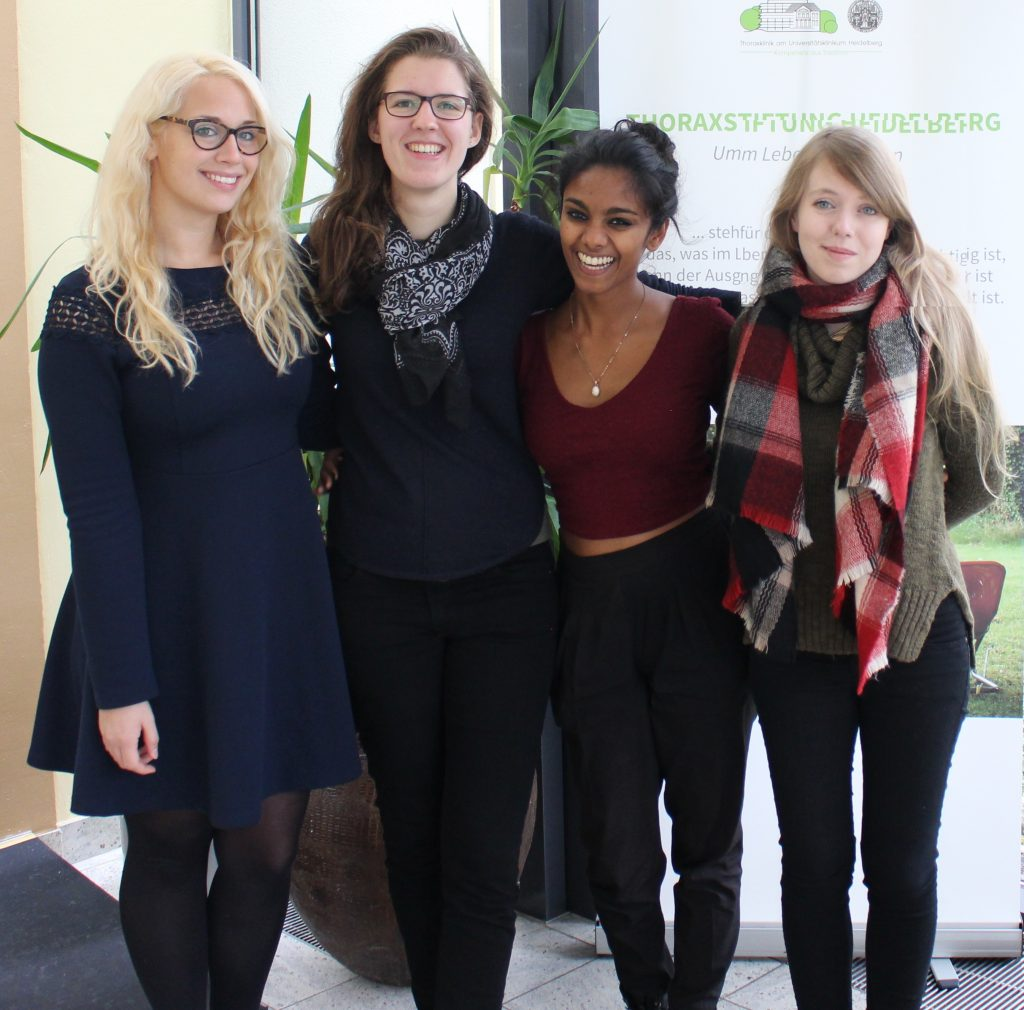 Neue Freundschaften: V.l. Sonja Wolff (Bochum), Hannah Beißwenger, Stephanie Sebastiampillai und Carolin Rauter (Göttingen)