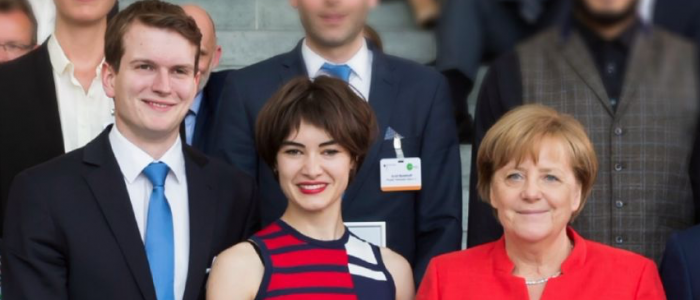 Titus Brinker mit Angela Merkel