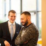 Mittlerweile alte Freunde: Jonas Alfitian (Köln) und Titus Brinker