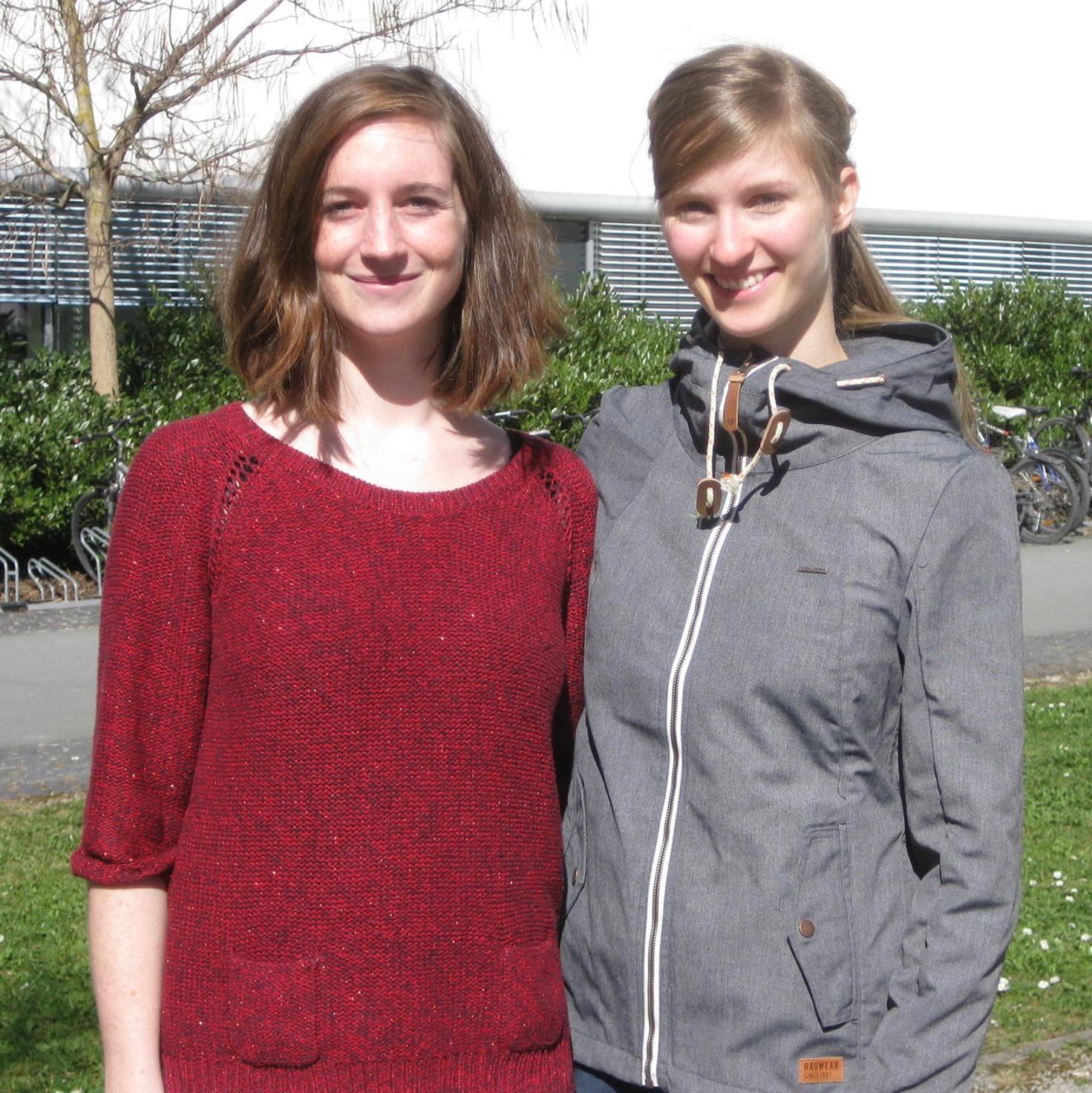 Gründerinnen der Lokalgruppe Katharina Schulz und Julia Holzapfel (v.l.) (2014)