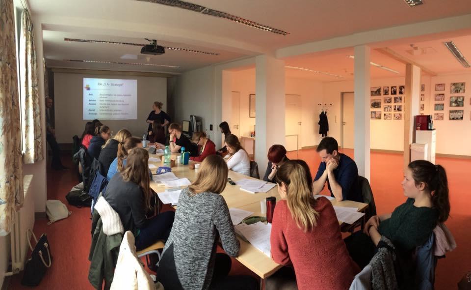 Unsere Wahlveranstaltung unter der Leitung von Dr. Inhestern und Professor Guntinas-Lichius (beide HNO Uniklinikum Jena)