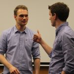 """Lob vom """"Chef"""" an Gruppenleiter Fabian Buslaff: """"Sehr guter Vortrag!"""""""