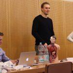 Fabian wirkte leitend bei der Gestaltung mit und moderierte das Training.